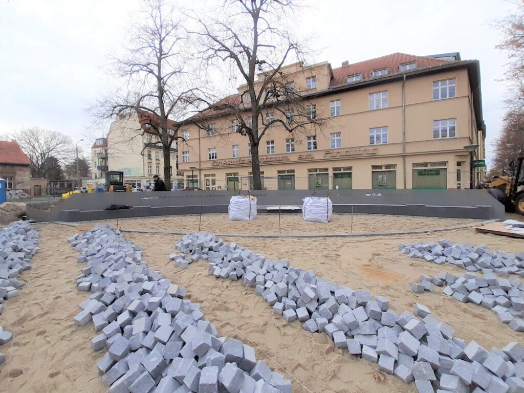 Baustelle Willi-Frohwein-Platz im Dezember 2020